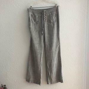 Gray Linen Blend Anthropologie Level 99 Pants